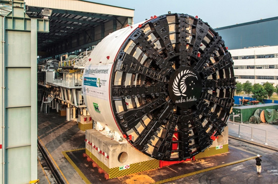 Tunnel boring machines (TBM) utilized in the construction project